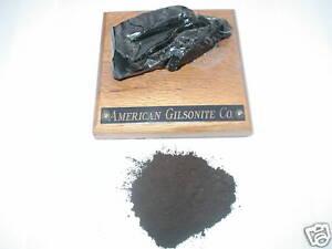 Gilsonite Asphaltum 200 Mesh Powder One Pound