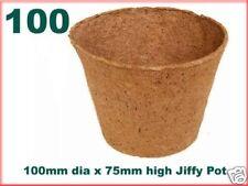 100mm Dia Jiffy Garden Plant Pots - Biodegradable x 100