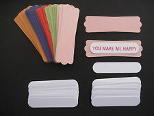 50pc STAMPIN UP 2011 IN COLOR CARDSTOCK MODERN LABEL & WORD WINDOW Punch Tags