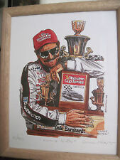 "DALE EARNHARDT PRINT BY RICK FINN ""LUCKY SEVEN"" 1995 LIMITED EDITION"