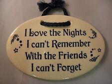 Moutian Meadows Pottery plaque/friends   /brand new