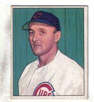 """1950 Bowman Baseball Card #170 Emil """"Dutch"""" Leonard Chicago Cubs VG/EX"""