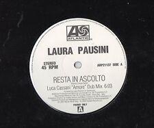 "LAURA PAUSINI disco MIX 12"" 45 g. MADE in ITALY Resta in ascolto STAMPA ITALIANA"