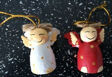 12 Wooden  Christmas Tree Hanging Decorations  hand made