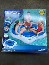 Bestway CoolerZ Badeinsel X3 3 Pers. Luftmatratze Schwimminsel Liege Pool Relax