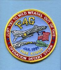 McDONNELL F-4 F-4G PHANTOM DESERT STORM WILD WEASEL USAF TFS Squadron Patch
