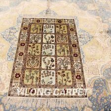 2.5'x4' Hand Knotted Silk Rug Four Seasons Indoor Living Room Carpet 352B