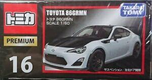 Takara TOMY Tomica Premium NO.16 TOYOTA 86GRMN Scale 1/60 Diecast Car in stock