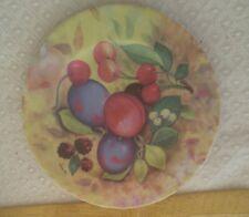 """1855 Email de Limoges Salad Dessert 7 1/2"""" Plate Godinger Fruit Marino"""