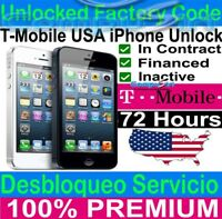 T-Mobile MetroPCS USA IPHONE UNLOCK SERVICE iPhone 6S 6S+ SE 6 6+ 5S 5C 5 4