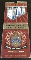Matchbook Cover Hotel Pennsylvania Philadelphia PA