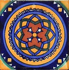 6 PCS Talavera 6X6 Handmade Ceramic Tile Mexican C119