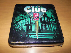 HASBRO 1998 Clue 50th Anniversary Deluxe Edition in Metal Tin ~ NEW/SEALED! RARE