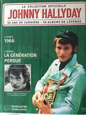 Johnny Hallyday La collection officielle Livre CD La génération perdue