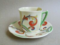 ROYAL DOULTON SYREN D5102 COFFEE CUP & SAUCER - ART DECO (Ref5496)