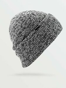 2021 NWT VOLCOM HEATHERS BEANIE $34 OS Black roll over fit heather knit