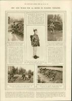 1915 Antique  Print ARMY UNIFORM 3rd City London Fusiliers Waders (323)