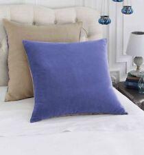 Bluebellgray Velvet Linen Periwinkle Euro Sham 2 Pcs 100% Cotton Blue/Tan