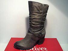 Wadenhohe Stiefel mit Reißverschluss und hohem Absatz (5-8 cm) für die Freizeit