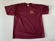 The Lord of The Rings The Two Towers Short Sleeve T-Shirt Men's Size XL Maroon