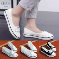 Women Canvas Flat Boat Shoes Breathable Ballet Slip on Sport Leisure Loafers
