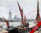 VAUXHALL SURREY LONDON OLD ENGLAND ENGLISH BRITISH ART CANVAS PAINTING PRINT