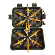 12Pcs Archery Broadheads 100 Grain 3 Blade Compound Bow Crossbow Arrows Tips