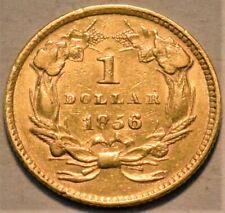 1856 Type 3 Gold Indian Princess One Dollar, Higher Grade G$1, Better Type Coin