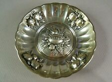 "800 (80% Silver) 3 3/4"" Repousse Bowl for Nuts, Mints, or Candy, FREE SHIPPING"
