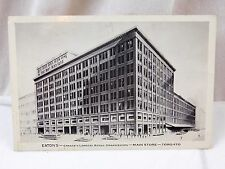 Vintage Eaton's Main Downtown Store in Toronto, Canada Postcard P27