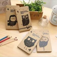 """""""Mr.Owl"""" 1pc Notebook Hard Cover Blank Diary Pocket Planner Cute Journal"""