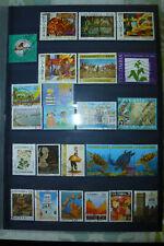 Briefmarken kolumbien  gestempelt auf 7 DINA4-seiten