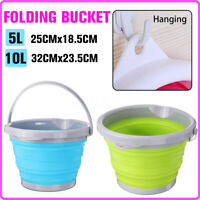 5/10L Folding Silicone Collapsible Bucket Camping Outdoor Hiking Fishing Pot -)
