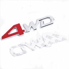CAR Parts 4WD Metal Red Trunk Lid Fender Emblem Badge Sticker Logo Decal Cool