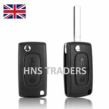 2 Button Flip Remote Key Fob Case UNCUT Blade For CITROEN C4 C5 C6 C8 UK *NB A23