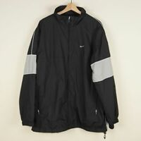 Nike Classic Black Lined Track Jacket Mens Sz XL