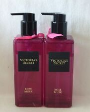 2 Rose Musk Fragrant Hand & Body Cleansing Gel Victoria's Secret 8.4 Oz NEW!!!