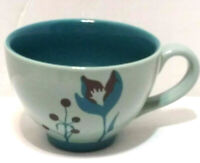STARBUCKS Teal Blue/Green 12oz-2006 Coffee/Tea Mug Latte Cup Preown Good