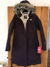 Womens Ladies North Face Coat Arctic Parka Purple Waterproof Size Extra Small XS