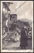 LECCO VALSASSINA 10 COSTUME Cartolina viaggiata 1940 Foto DOLCI NOVARA