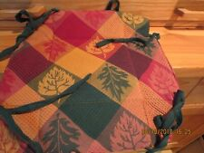 """Cloth Padded Server-8"""" Square X 3"""" High-Fall Leaves-Stores Flat-#R5"""