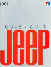 1981 Jeep CJ-5 CJ-7 14-page Original Car Sales Brochure Catalog - Renegade CJ7