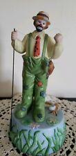 "Vintage Emmett Kelly Jr. Clown Figurine Music Box ""With A Little Bit of Luck"""