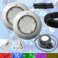 2 x Swimming Pool LED Light RGB - Above Ground / Vinyl - Bright + Power + Cable