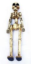 Holz Skelett-Figur stehend Scull Deko handgeschnitzt Statue Ornament beweglich