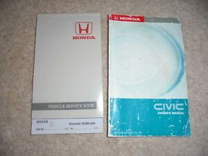 HONDA CIVIC 1988 - 1991 OWNERS DRIVERS HANDBOOK SERVICE BOOK PACK