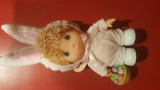 Precious Moments Hi Babies Doll Dressed as Easter Bunny 2/tags
