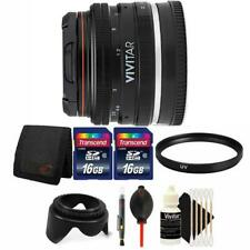 Vivitar 50mm f/2.0 Lens with Filters and More