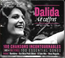 COFFRET (BOX SET) 5 CD 100 TITRES DALIDA LE COFFRET BEST OF 2016 NEUF SCELLE