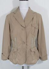 Sitwell Khaki Ribbon Trim Jacket Coat Back Bow sz 10 Anthropologie #5697
